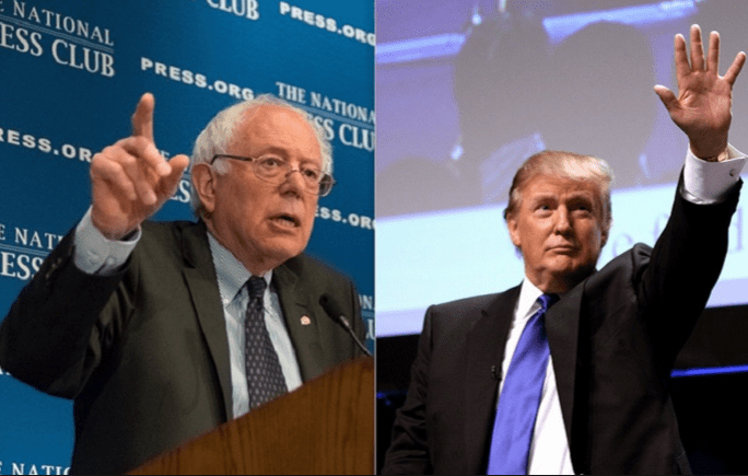Bernie Sanders, left, and Donald Trump, prevailed in New Hampshire.
