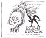 sanders clinton cartoon