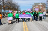 Hope for NH Recovery, a peer-to-peer recovery model, out in force marching in the 2017 St. Patrick's Day Parade.