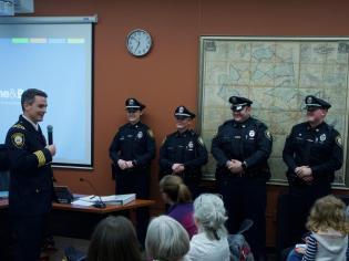 Officers Jennifer Gilson, Andrea Locke, Jeffrey Martin & Richard Chute