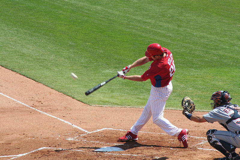 Il giocatore di baseball mancino