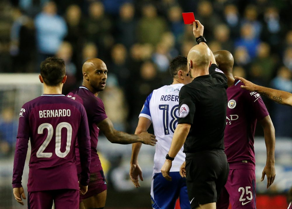 Oh the irony – City fans react after Delph sees red in FA Cup defeat