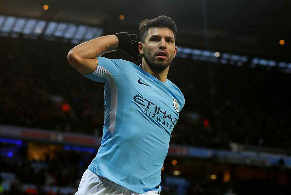 City Handed Big Boost As Aguero Is Pictured In Team Training Ahead Of Arsenal Clash