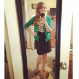 This is how we get trendy and classy for a PR event :) Wedges and a pencil skirt