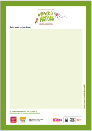 Summer Reading Challenge Book review competition form download