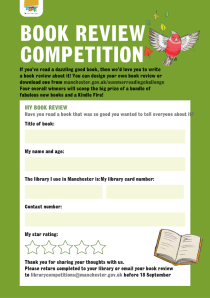 Book review competition form.