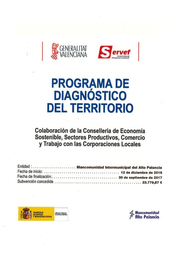Programa de diagnóstico del Territorio
