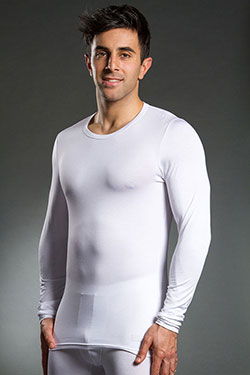 HOM Business Silk 44 Inners Long Sleeve Shirt White