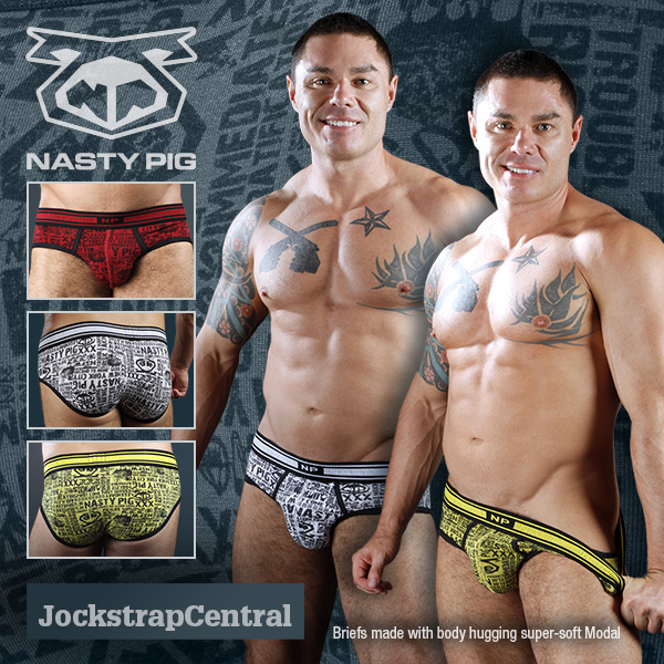 Nasty Pig Covert Brief – new at Jockstrap Central – plus new model Jason Vault