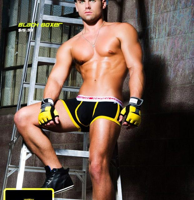 Check out the Andrew Christian Vivid Fuse Boxer
