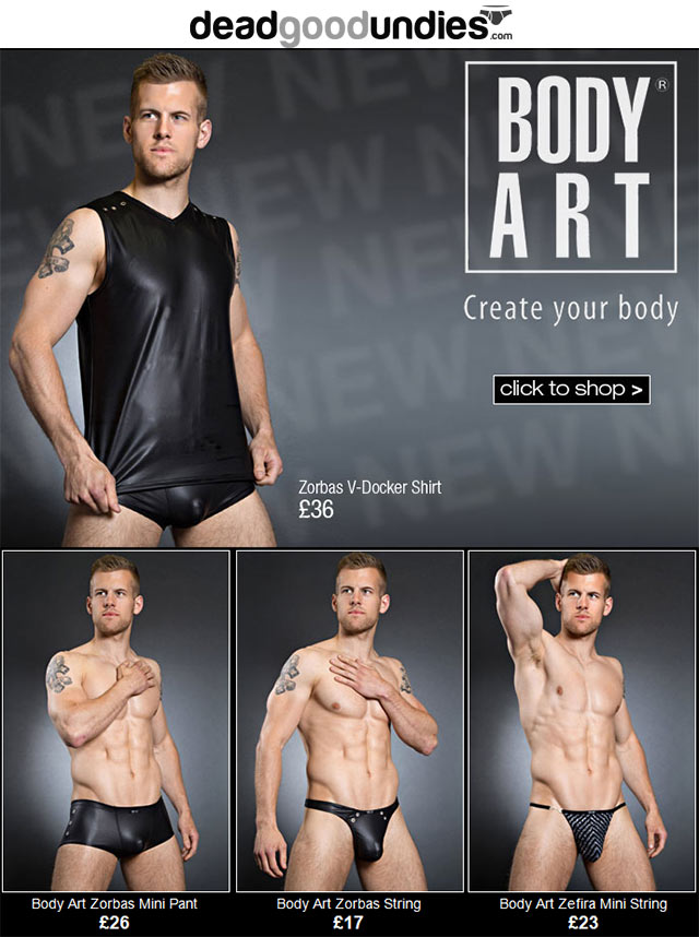 New Body Art direct from Germany at Dead Good Undies