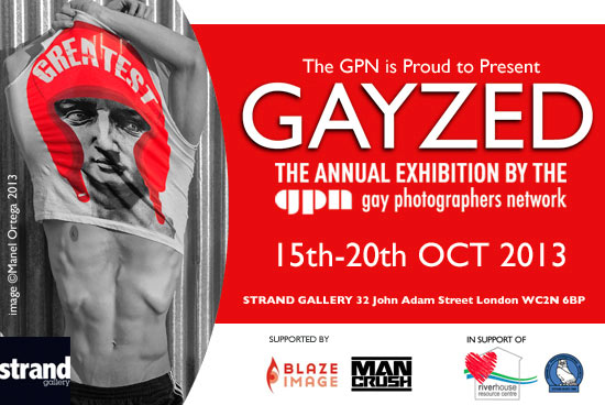Man Crush supports Gayzed – the annual exhibition by the Gay Photographers Network