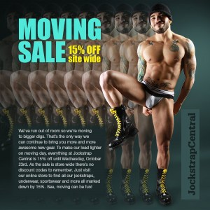jockstrap central moving sale