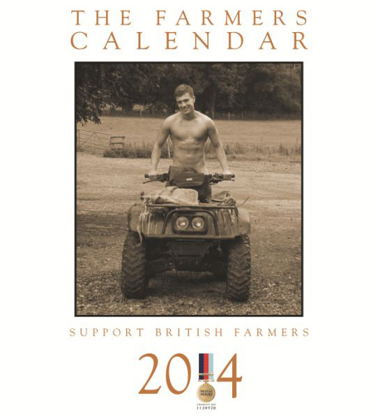 Men on Tractors – The Farmers Calendar 2014