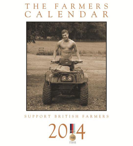 Men on Tractors – The Farmers Calendar 2014