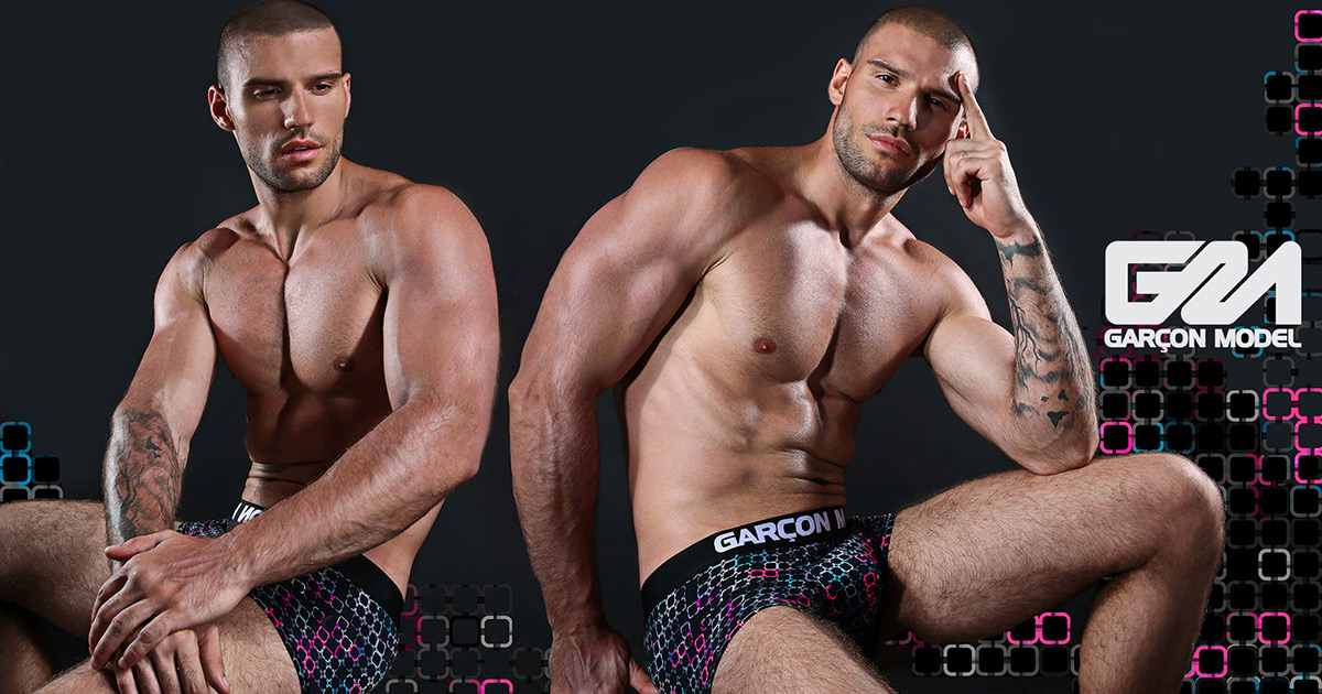 Galaxy from Garçon Model – new briefs, trunks and jocks in a limited edition print
