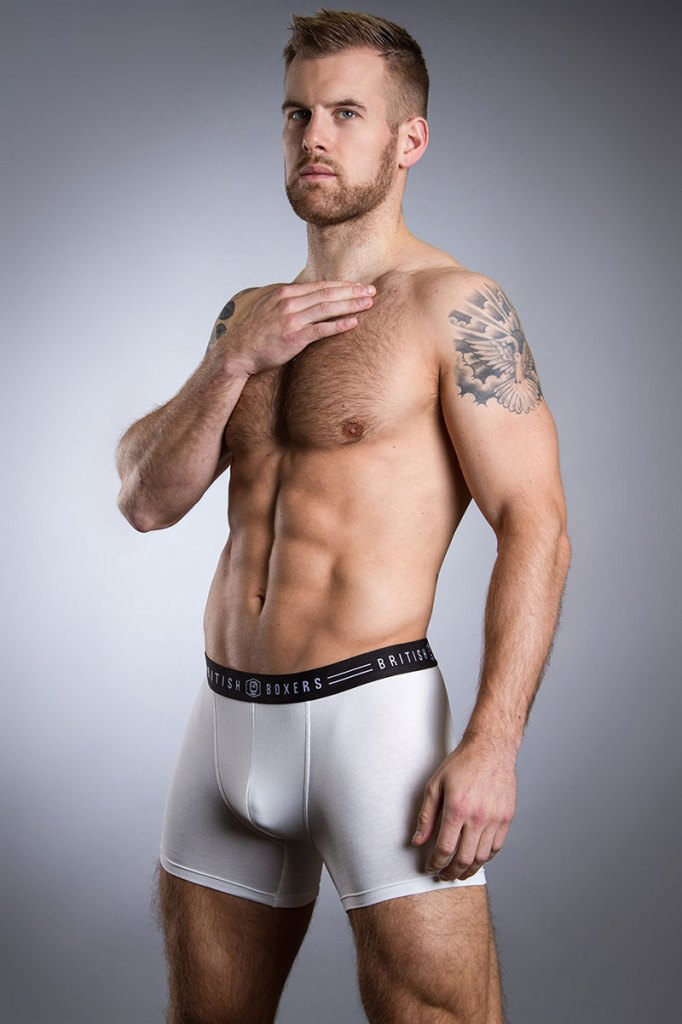 British Boxers Natural White Stretch Trunk