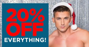 20 pc off everything at Andrew Christian this Christmas