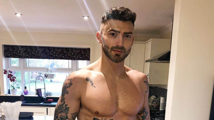 Jake Quickenden in black Calvin Klein briefs