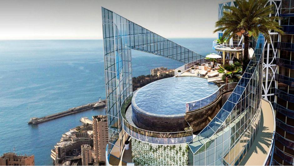 Odeon Tower Penthouser Monaco Meer Aussicht Pool Dach Loft