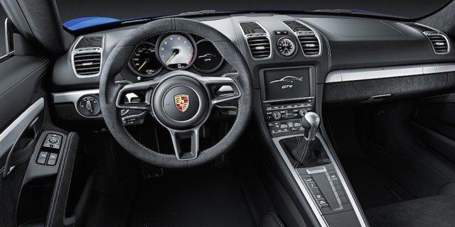 Porsche Cayman GT4 Innenraum Interieur manuelles Schaltgetriebe