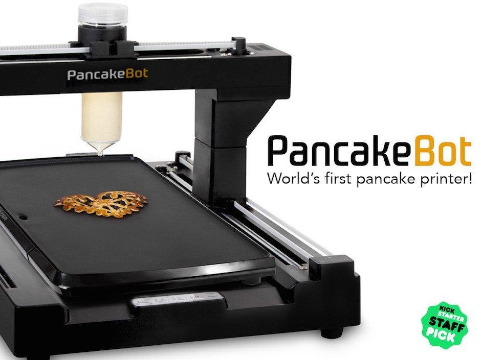 PancakeBot Pancakes Pfannkuchen 3D Drucker Miguel Valenzia Kickstarter Lecker küche