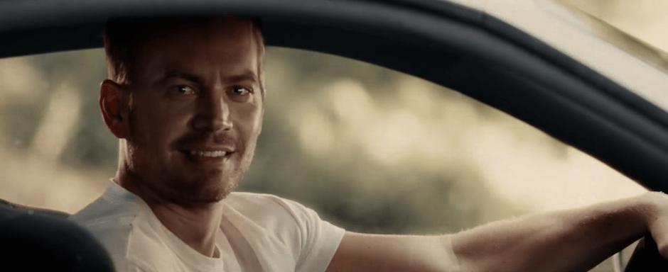 Paul Walker Fast Furious 7 See You Again Wiz Khalifa Endszene Endsequence Abspann Gesicht Auto Toyota Supra
