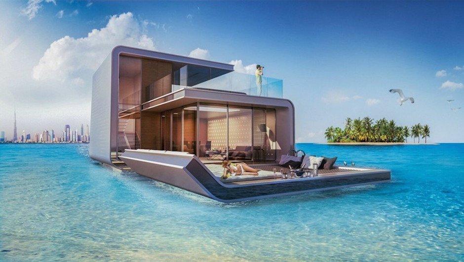 Floating Seahorse House Dubai The World Meer 3-Etagen-Haus