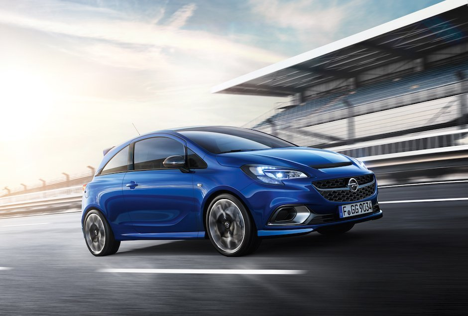 2015 Opel Corsa OPC Racetrack Rendering blau schnell Hothatch Performance Tuning
