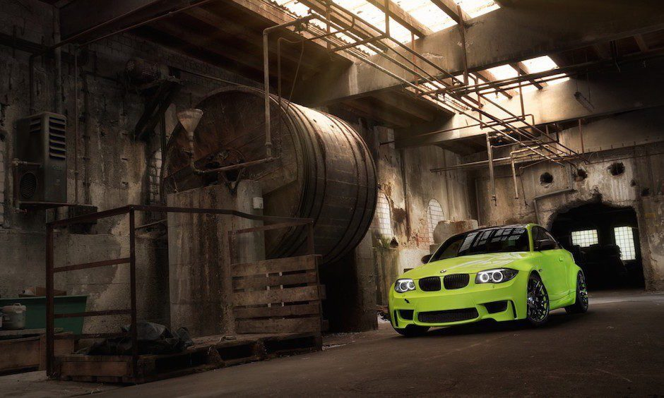 BMW 1M Coupe E82 Lightweight Tuning Irie Green Limette SchwabenFolia Jannik Holler BMW 1M Coupé