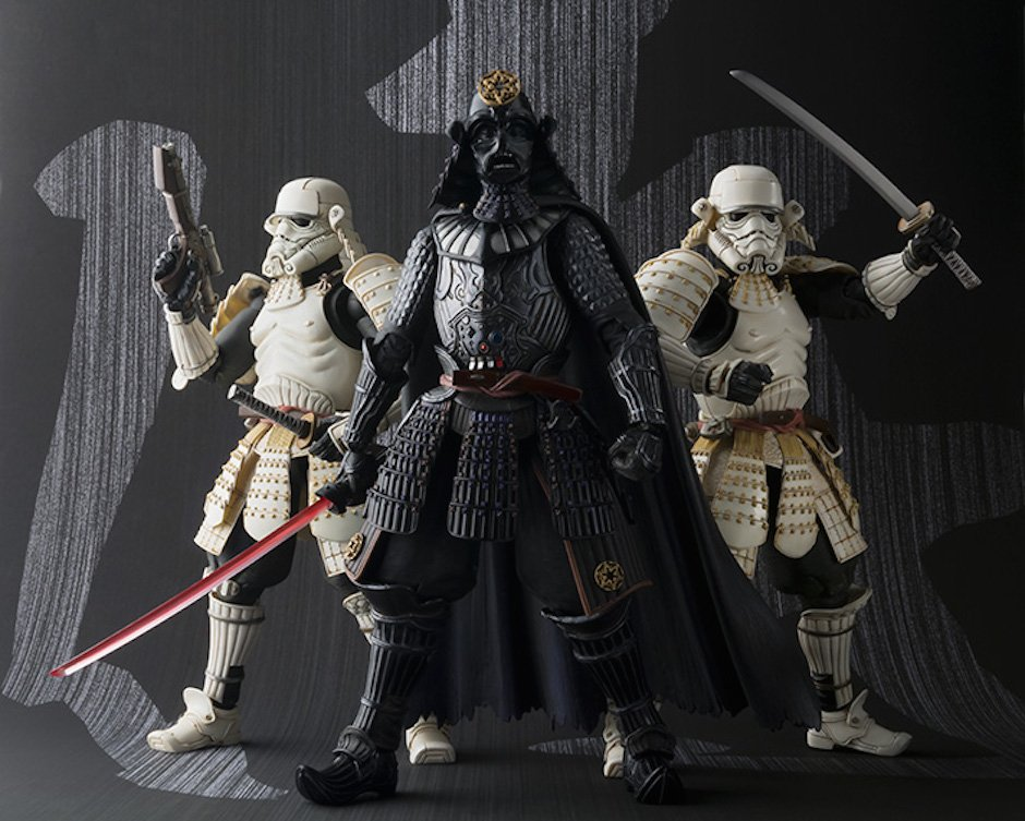 Darth Vader Star Wars Samurai Actionfigur Tamashii Nations Stormtrooper