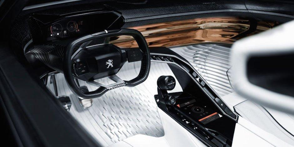 Peugeot Fractal Interieur Interior Fahrzeug Design Studie Konzept