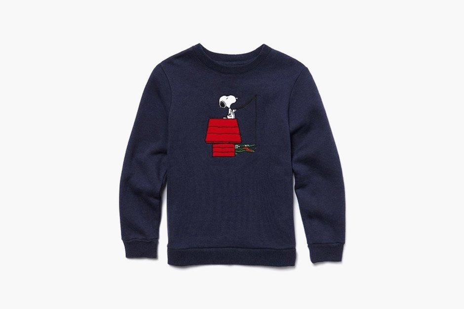 Lacoste Peantus Fall 2015 Sweatshirt Navy Blue blau Snoopy Pullover