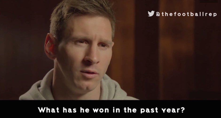 Zum totlachen: Lionel Messis Reaktion zum Trailer des Cristiano Ronaldo-Films