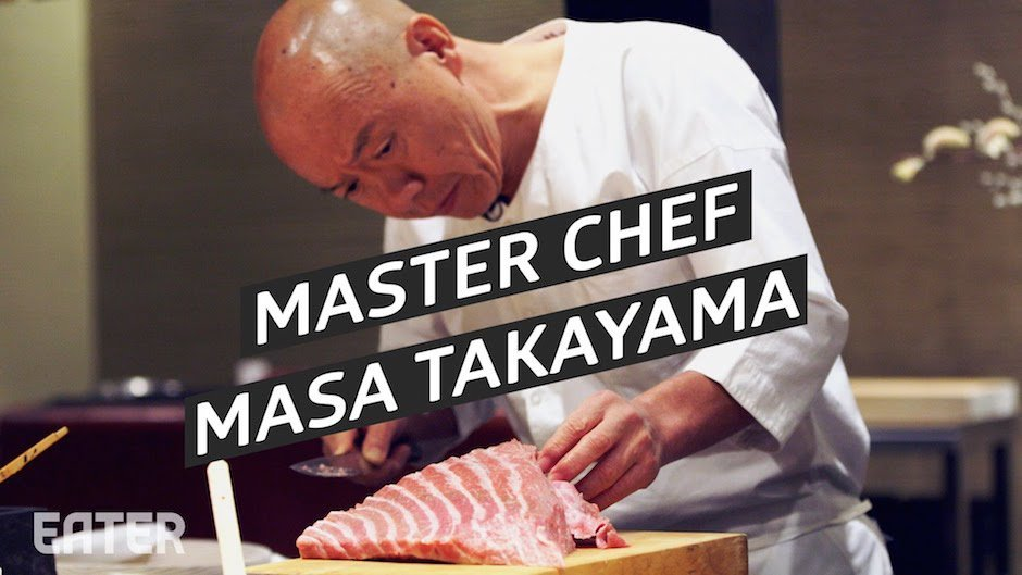 Masa Takayama Sushi Master Chef Chefkoch Takayama Manhatten New York USA Restaurant Bestes Sushi der Welt Fleisch Fisch Filetieren Kunst Essen Japan