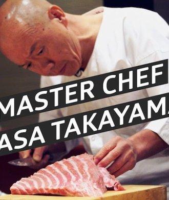 Masa Takayama Sushi Master Chef Chefkoch Takayama Manhatten New York USA Restaurant Bestes Sushi der Welt Fleisch Fisch Filetieren Kunst Essen Japan