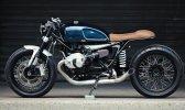 BMW R NINET Clutch Motorcycles Seitenansicht Leder blau Cafe Racer
