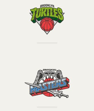 NBA Cartoon Mashup Vanilla Lab Brookyln Nets Cavaliers Ninja Turtles