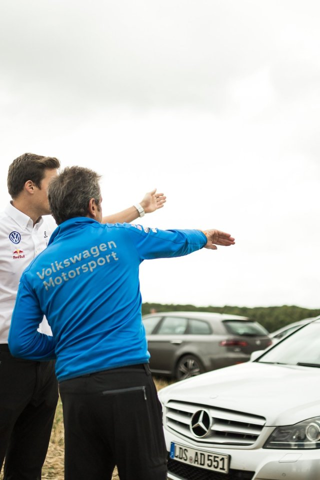 Luis Moya Co-Pilot Carlos Sainz Anweisungen Instruktionen Rallye WRC