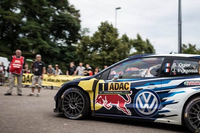 Sebastien Ogier Ingrassia Media Park VW Polo WRC Motion Zeitnahme Bewegung