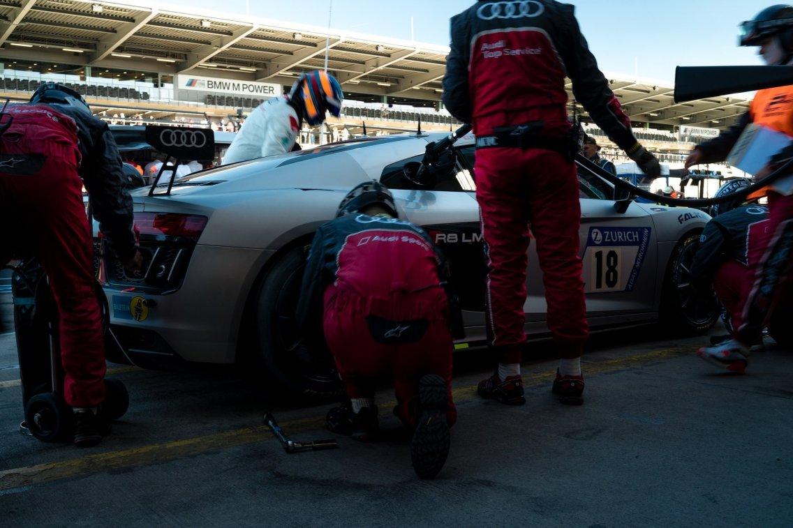 45. ADAC Zurich 24h Rennen Nürburgring Audi R8 LMS GT4 Fahrerwechsel