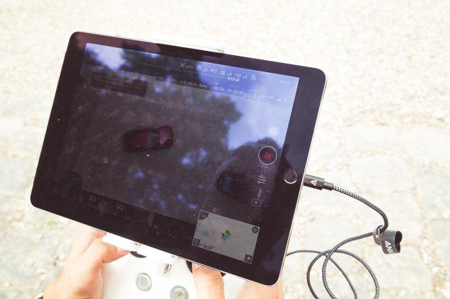 iPad DJI Phantom 4 Drohne App