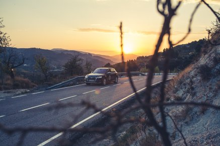 Audi SQ5 Sonnenuntergang Guadalest Valley