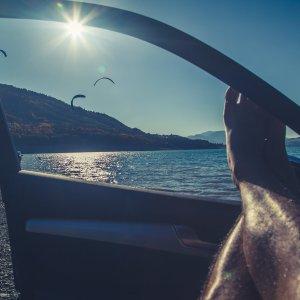 Relax Sonnenuntergang Kitesurfing