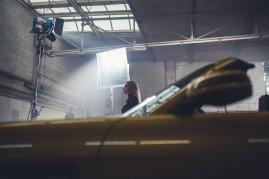 Studio Licht Spiegel Reflektor Frau Fahrzeug