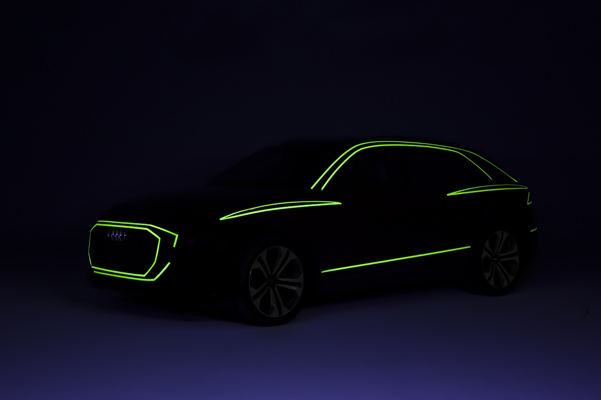 Audi Q8 Silhouette Darkroom Neon Tape