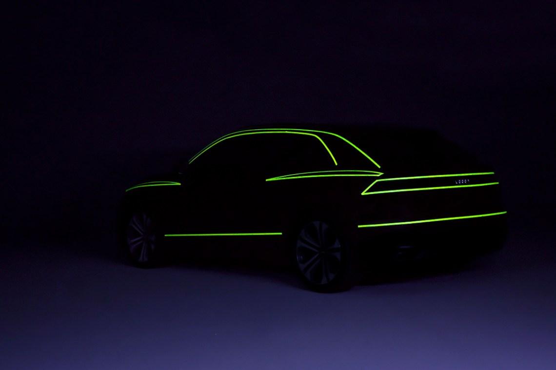 Audi Q8 Silhouette Leuchtendes Klebeband Heck