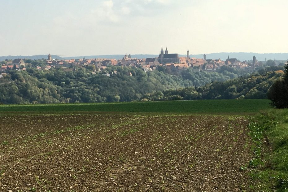 "View of Rothenburg ob der Tauber during escorted motorhome tour ""Germany's Romantic Road"""