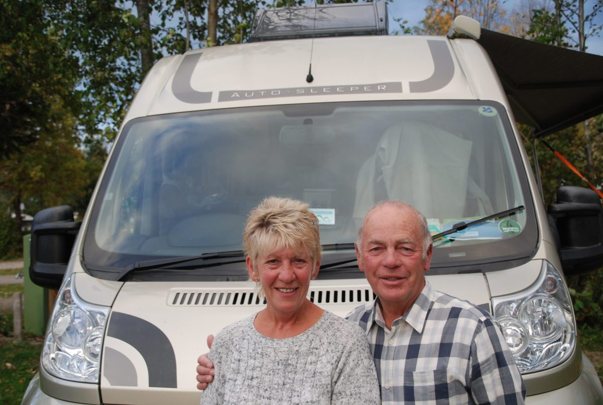 Customers Cathy & Mervyn during our escorted motorhome tour Germany's Romantic Road 2017