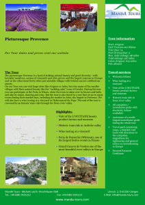 Photo First Page Tourflyer Picturesque Provence 2021